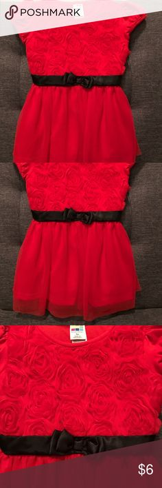 Kids' rosette dress Sz 4T Healthtex rosette dress Sz 4T. Worn once. Absolutely adorable. Can wear for multiple occasions! Christmas, New Years, Valentine's Day, etc! Healthtex Dresses