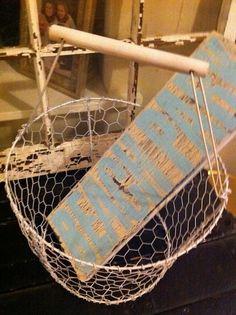 Make your own chicken wire basket.