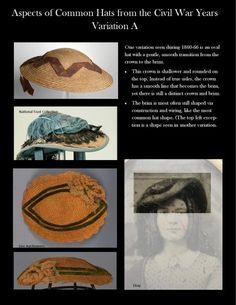 Civil War Ladies Hat Variation A