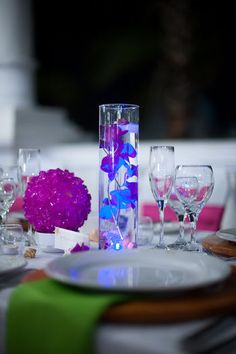Submersible LED lights to give your centerpieces a glow