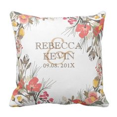 Our Wedding ceremony Day-Flowers & Textual content template Throw Pillow. >>> Check out even more at the picture