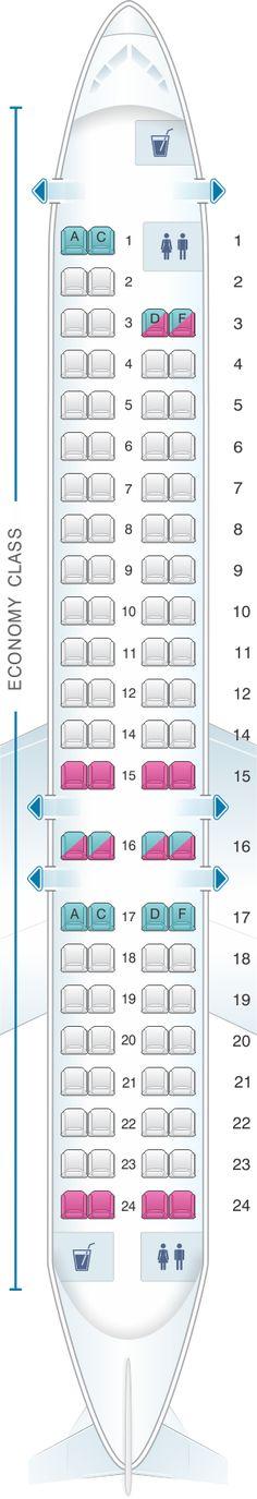 Seat Map Scandinavian Airlines (SAS) Bombardier Canadair CRJ 900