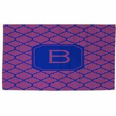 Thumbprintz Moroccan Monogram Magenta Rug, Purple