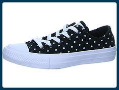 ed625cebc659ef Converse Plateau Sneaker Größe 38 Schwarz (schwarz weiß) - Schnürhalbschuhe  für frauen (