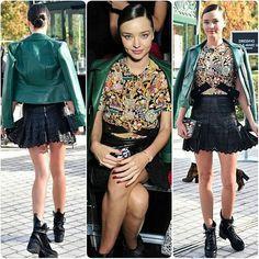 #MirandaKerr #PFW Outfit 1#ParisFashionWeek #gorgeous #highheels #supermodel #model #white #fashion #style #celebrity #printed #hollywood #star #beautiful #CropTop #denim #bae #legsfordays #omg #fall #pretty#stylish #lookbook #look #ootd #outfit #heels... - Celebrity Fashion