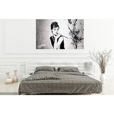Audrey Hepburn Breakfast at Tiffany's Digital print wall art decor... (7.51 CAD) ❤ liked on Polyvore featuring home, home decor and wall art