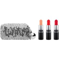 MAC Mini Lipstick Kit, Snow Ball Collection ($30) ❤ liked on Polyvore featuring beauty products, gift sets & kits, warm, mac cosmetics kit and mac cosmetics
