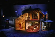 The Ladykillers. Nor - The Ladykillers. Scenic design by Sara Perks. Set Theatre, Set Design Theatre, Stage Design, Exeter, Royal Ballet, Stage Set, Scenic Design, Stage Lighting, Design Model