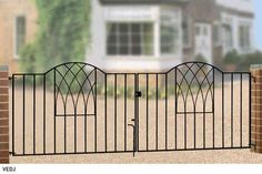 Verona Wrought Iron Metal Driveway Gates | Modern Driveway Gates For Sale