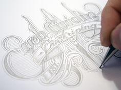 Seb Gaidin logotype by Martin Schmetzer. Creative Typography, Graphic Design Typography, Lettering Design, Hand Lettering, Hand Drawn Type, Hand Type, Calligraphy Words, Typography Letters, Pretty Letters
