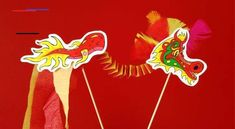 Celebrate the Lunar New Year with our easy printable dragon craft (we've even got a colour-your-own version! Chinese New Year Dragon, Chinese New Year Crafts For Kids, Chinese New Year Activities, Chinese Crafts, Chinese New Year Decorations, Year Of The Dragon, Holiday Crafts For Kids, Kids Crafts, Holiday Ideas