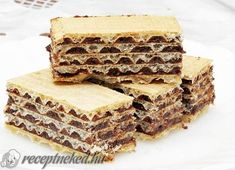 Érdekel a receptje? Kit Kat Bars, Desserts With Biscuits, Speed Foods, Hungarian Recipes, Hungarian Food, Wafer Cookies, Salty Snacks, Homemade Cakes, No Bake Cake