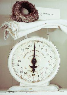 white vintage scale