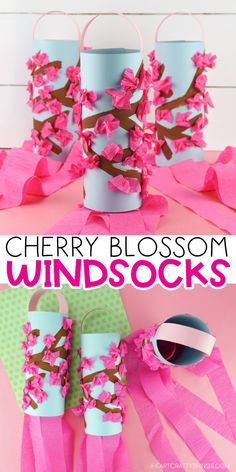 Gorgeous Cherry Blossom Windsocks