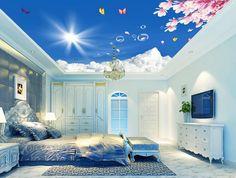 3d papier peint nature Fleur ciel plafond 3d papier peint moderne pour salon peintures murales plafond Décoration de La Maison dans Fonds d'écran de Amélioration de l'habitat sur AliExpress.com   Alibaba Group