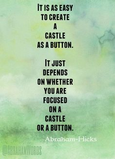 It is as easy to create a castle as a button (from AbrahamWords)