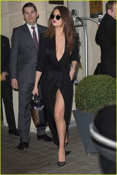 Selena Gomez Rocks Sexy Slit Dress While Out in Paris For Fashion Week: Photo 3600373 | Selena Gomez Pictures | Just Jared