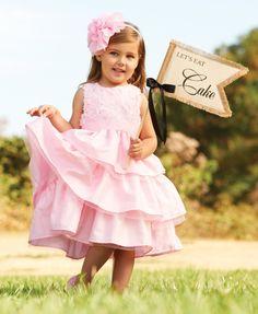PINK ROSE SUNDAY SILK DRESS mud pie - $49.99 #easterdress #flowergirldress #mudpie