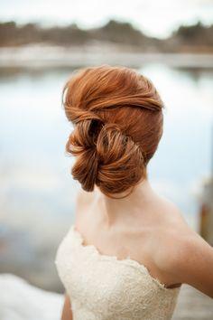 we ❤ this!  moncheribridals.com #weddingupdo #bridalupdo