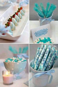Boy babyshower. I love all four of these ideas!