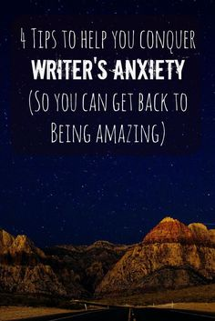 4 Tips to Help You Conquer Writing Anxiety and Writer's Block writing advice Fiction Writing, Writing Quotes, Writing Advice, Writing Resources, Writing Help, Writing A Book, Writing Prompts, Start Writing, Writing Ideas