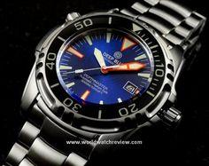 Deep Blue Depthmaster 3000 (blue dial, front view)
