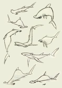 Hammerhead Shark by Polarkeet. These are so sweet they just make me laugh!!