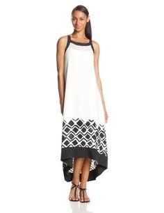 DKNYC Women's Sleeveless Maxi Dress with Chiffon - Listing price: $149.50 Now: $84.75  #DKNYC