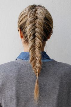Ditch your basic ponytail and try this inverted-fishtail braid the next time you go to the gym.