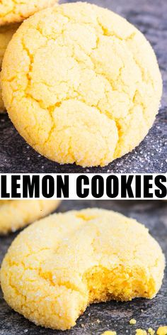 Quick and easy lemon cookies from scratch recipe, made with simple ingredients. These soft and chewy cookies are packed with lemon flavor, coming from lemon zest, lemon juice and lemon extract. Lemon Cookies Easy, Quick Cookies, Lemon Sugar Cookies, Sugar Cookies Recipe, Lemon Cake Mix Cookies, Lemon Cookie Recipe, Orange Cookies, Simple Biscuit Recipe, Plain Cookie Recipe