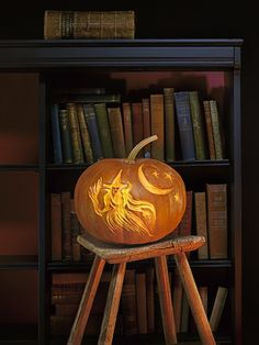 """Carving a pumpkin used to mean wielding a knife like Jack the Ripper. Today, many pumpkin artists favor a tool that gently shaves away the tough outer layer, leaving intact a translucent orange """"shade."""""""