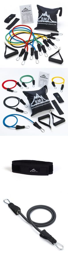 Resistance Trainers 79759: Black Mountain Products Resistance Band Set With Door Anchor, Ankle Strap,. -> BUY IT NOW ONLY: $35.74 on eBay!