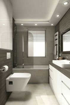 Home Renovation Tips – What to Install in a Bathroom Bathroom Layout, Modern Bathroom Design, Bathroom Interior Design, Small Bathroom, Bathroom Ideas, Bath Ideas, Minimal Bathroom, Marble Bathrooms, Dream Bathrooms