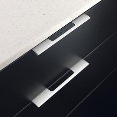 un grand classique pour les meubles de cuisine, la poignée look ... - Poignee Meuble Design