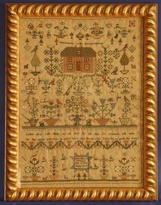 MARIA THERESA WILKINSON November 9, 1825. The Scarlet Letter: Reproduction Sampler Kits, Antique Needlework