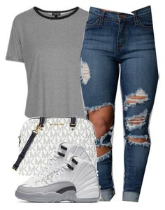 """Untitled #134"" by amaiah14 ❤ liked on Polyvore featuring Topshop and Michael Kors"