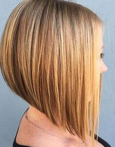 Inverted Bob, Bob, Inverted, Highlights, Blonde