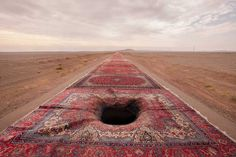 Jalal Sepehr Combines Fine Art Photography and Persian Rugs #inspiration #photography