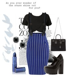 """""""From the Inside //"""" by lopinslow14 ❤ liked on Polyvore featuring Charlotte Russe, Yves Saint Laurent and Lipstick Queen"""