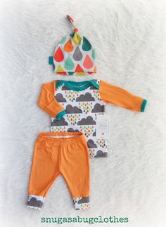Rain Clouds Spring Baby Boy Coming Home by SnugAsaBugClothes