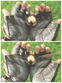 Esta es la snich dorada una de las pelotas para jugar al quidich