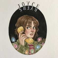 Joyce Byers #strangerthings #strangerthingsart #art #joycebyers #fanart #artwork #drawing #illustration #painting #watercolor #gouache #strangerportraits