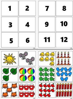 Math Activity: Count and Clip Kindergarten Math Activities, Math Literacy, Preschool Learning Activities, Preschool Worksheets, Preschool Activities, Teaching Kids, Numbers Preschool, Teaching Numbers, Maternelle Grande Section