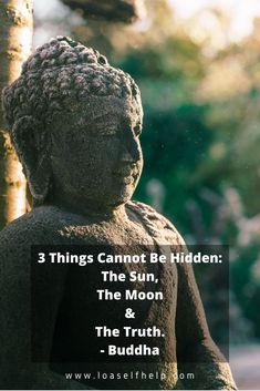 3 things cannot be hidden: the sun, the moon and the truth. Just like you would not want to hide the sun or the moon forever, you don't want to hide the truth. One way or another, it will come out and haunt you. Meditating can help you be more truthful to yourself and others by disolving your ego. To disolve your ego and replace your limiting beliefs by positive and grateful thoughts, you need to reprogram your subconscious mind. Find out how here. #meditation #lawofattraction #buddha #LOA Meditation Quotes, Mindfulness Quotes, Yoga Quotes, Mindfulness Meditation, Life Inspiration, Motivation Inspiration, Become A Yoga Instructor, Law Of Attraction Love, Mindfulness Exercises