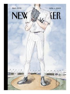 """The New Yorker - Monday, April 2005 - Issue # 4115 - Vol. 81 - N° 7 - Cover """"Over the Top"""" by Barry Blitt The New Yorker, New Yorker Covers, Magazine Illustration, Book Illustration, Magazine Art, Magazine Covers, Room Posters, Old Magazines, Over The Top"""