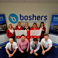 Happy St George's Day! Boshers Holiday Home Insurance Team have gone all patriotic . Give them a call for an insurance quote and they'll do all they can for you short of slaying a dragon!