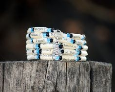 The Fault in Our Stars  Spiral Wrap Bracelet by Geminivintagestore