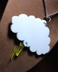 silver lining weather inspired jewellery range ..white cloud / lightning bolt on Etsy, $18.63 AUD
