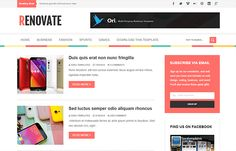 Renovate Blogger Template   High Quality Free Blogger Templates