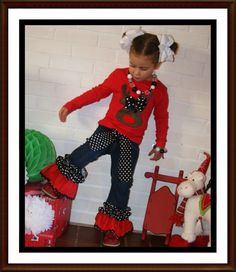 Christmas Outfit Toddler Girl, Red Reindeer Shirt and Embellished Jeans, Winter Outfit Big Girls, Pants and Shirt Matching Chritmas Toddler Girl Christmas Dresses, Kids Christmas Outfits, Christmas Skirt, Holiday Outfits, Toddler Outfits, Kids Outfits, Christmas Clothes, Reindeer Christmas, Xmas